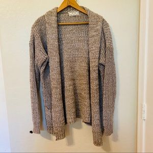 Pink Rose Oatmeal Cable Knit Cardigan